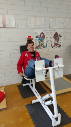 On the first day of Christmas, Linda gave to me . . . . a leg press just for me!