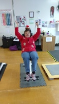 On the fourth day of Christmas, Linda gave to me . . . a shoulder pull.