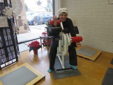On the sixth day of Christmas, Linda gave to me . . . a bicep/tricep machine.